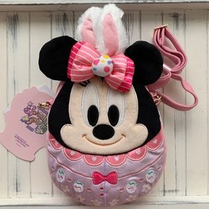 Disney Minnie Mickey Easter Egg Plush Bag HK